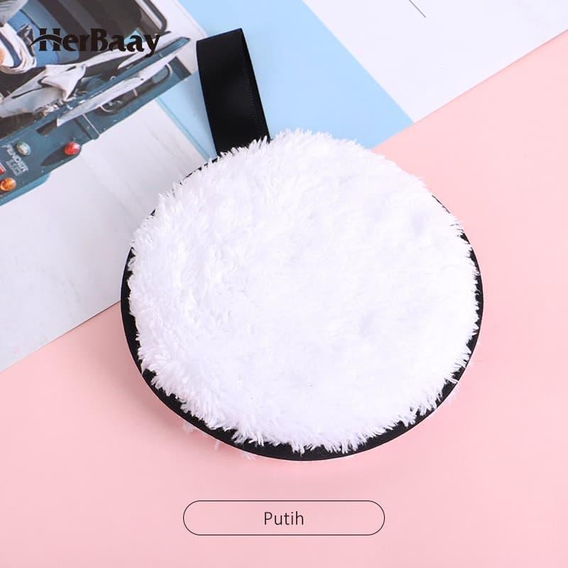 Herbaay Kapas Penghapus Makeup Remover Pad Reuseable - Putih 5