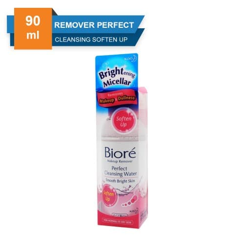 Biore Makeup Remover Perfect Cleansing Water Soften Up 90 Ml thumbnail