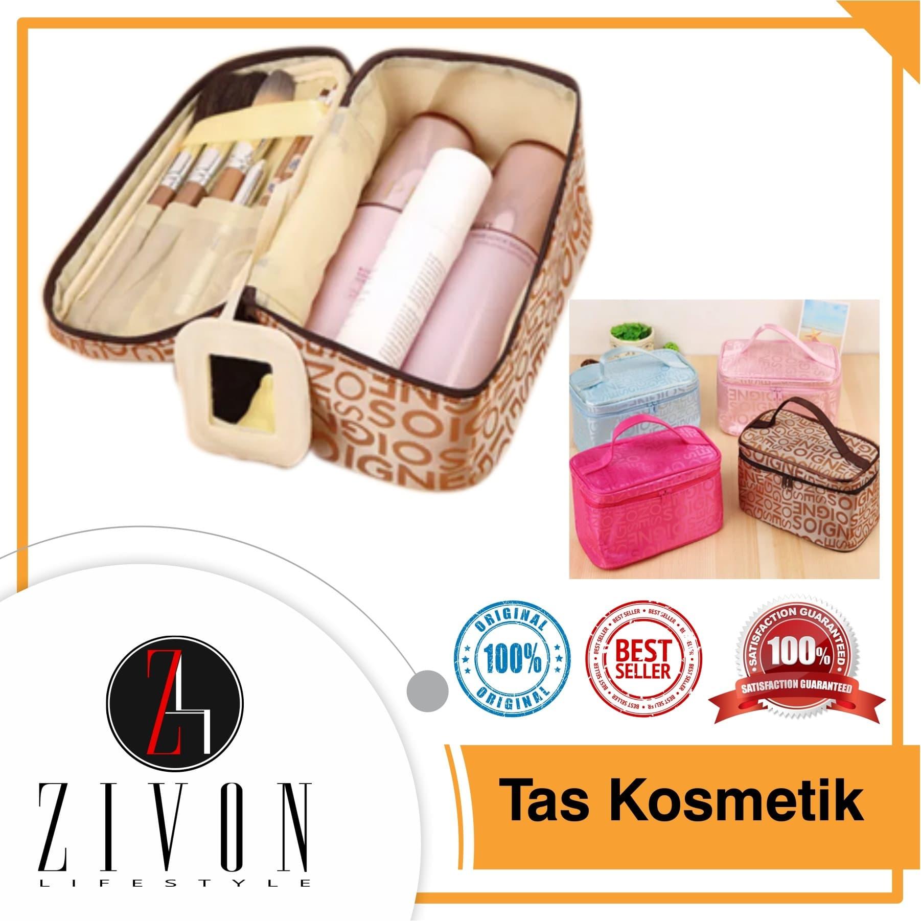 Tas Kosmetik Cosmetic organizer pouch Monopoly Travel bag KQ53 - Pink Fanta thumbnail