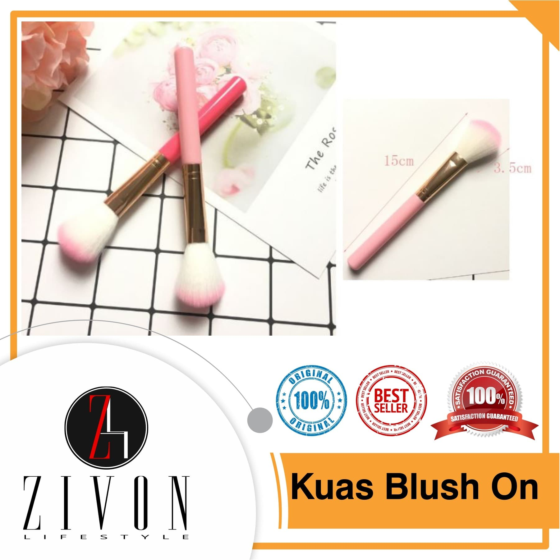 Kuas Blush On Brush Make Up Makeup thumbnail