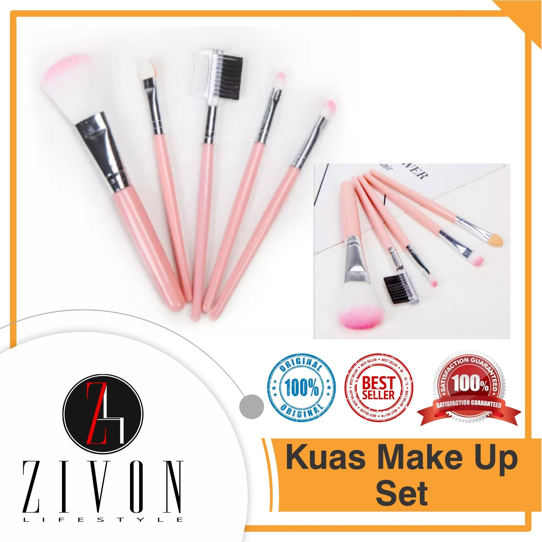 Kuas Make Up SET Isi 5 Makeup Brush PF27 thumbnail