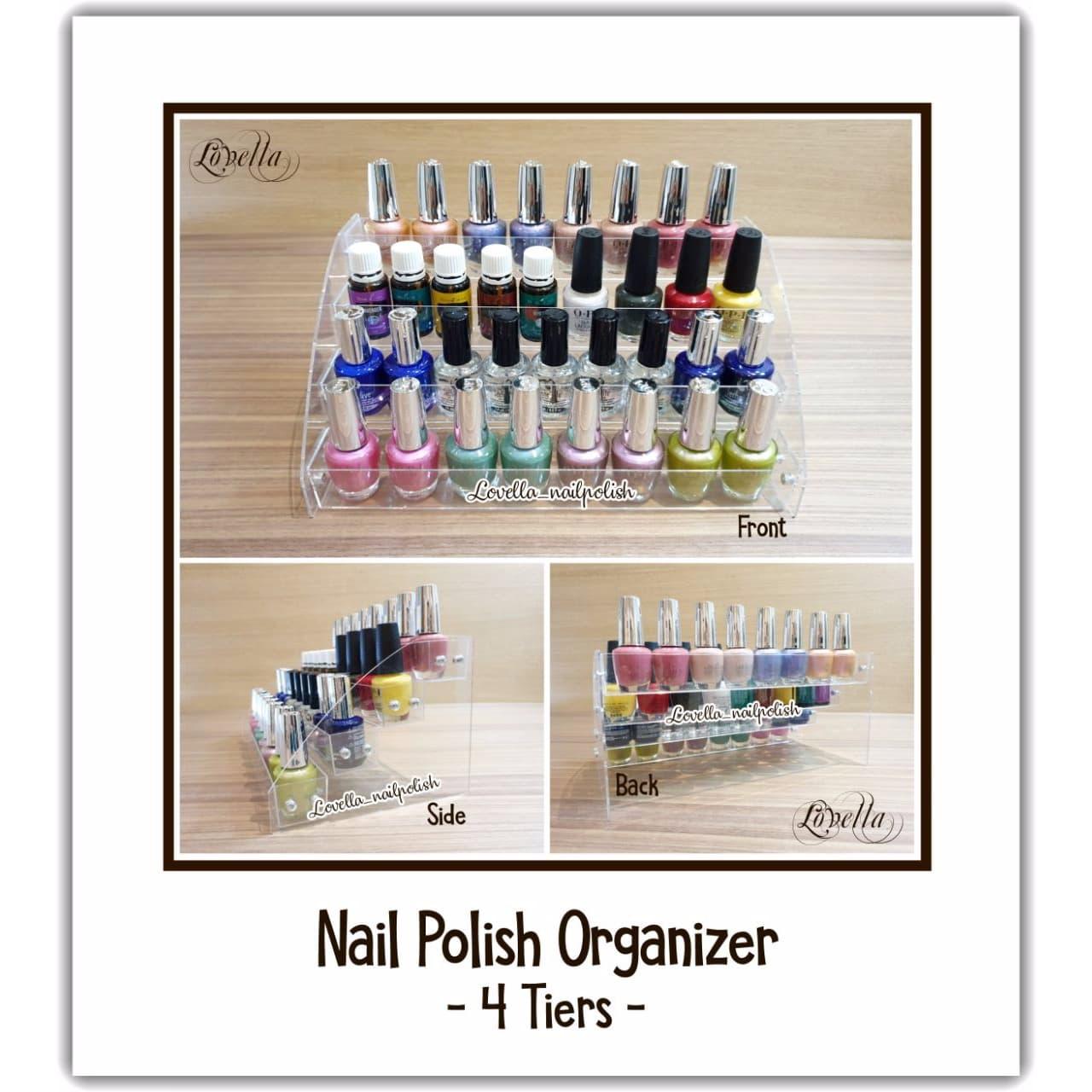Nail Polish Organizer Nail Polish Rack Rak Nail Polish Rak Kutek - 3 Tiers thumbnail