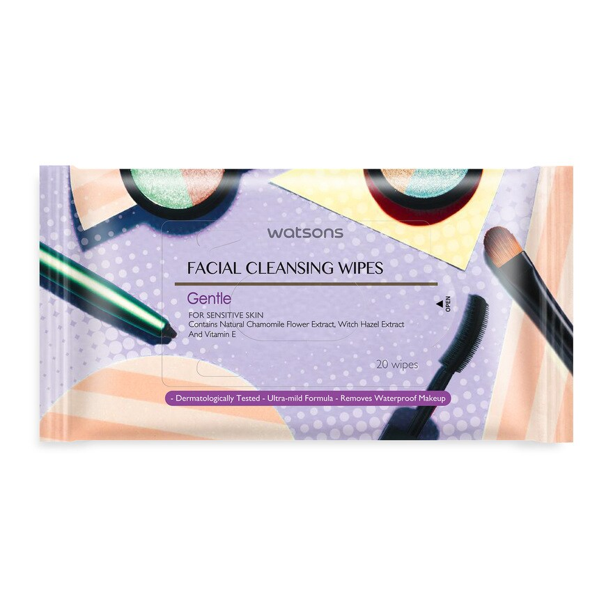 Watsons Facial Cleansing Wipes Gentle 20 S thumbnail
