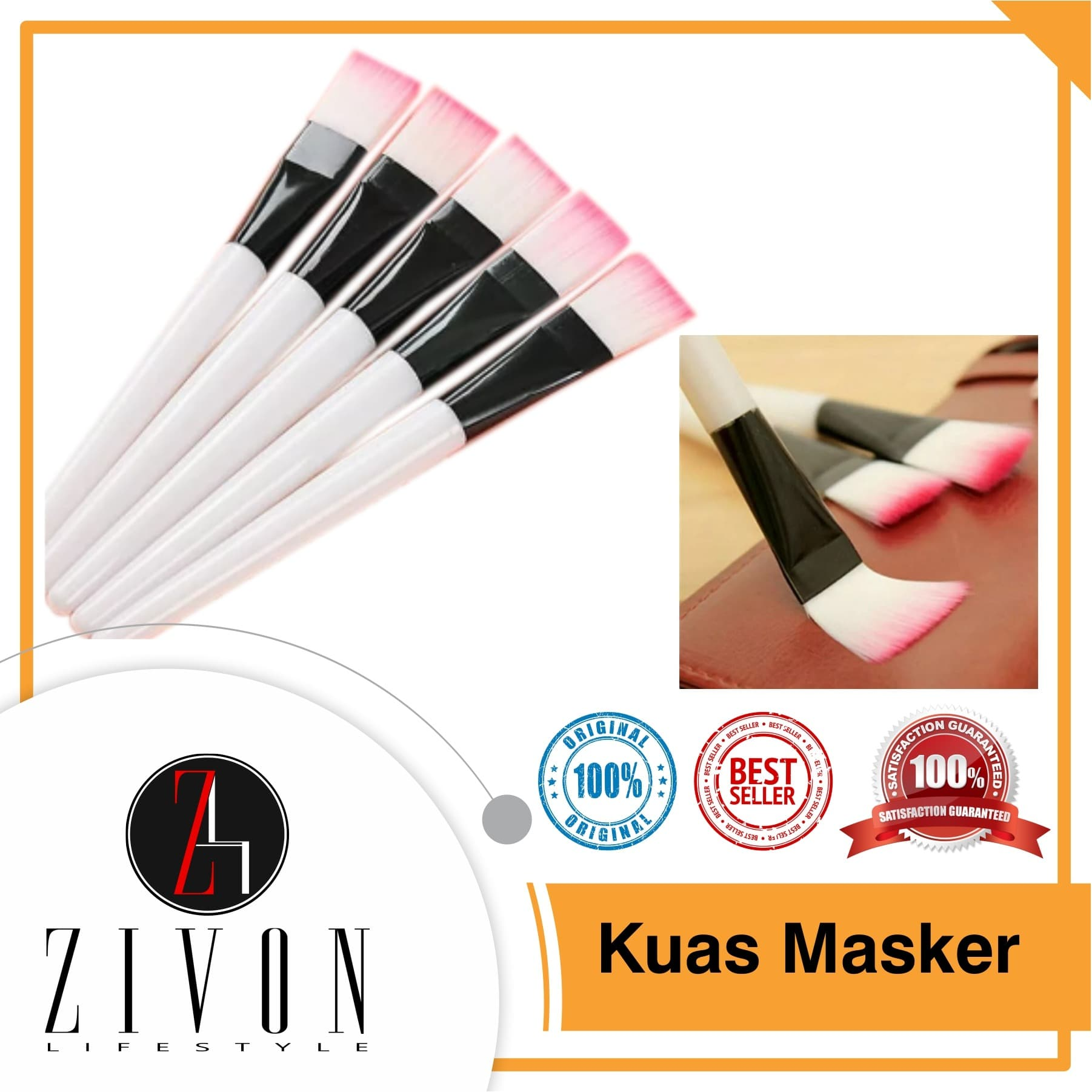 Kuas Masker Napkin Nilon Brush Makeup Make Up thumbnail