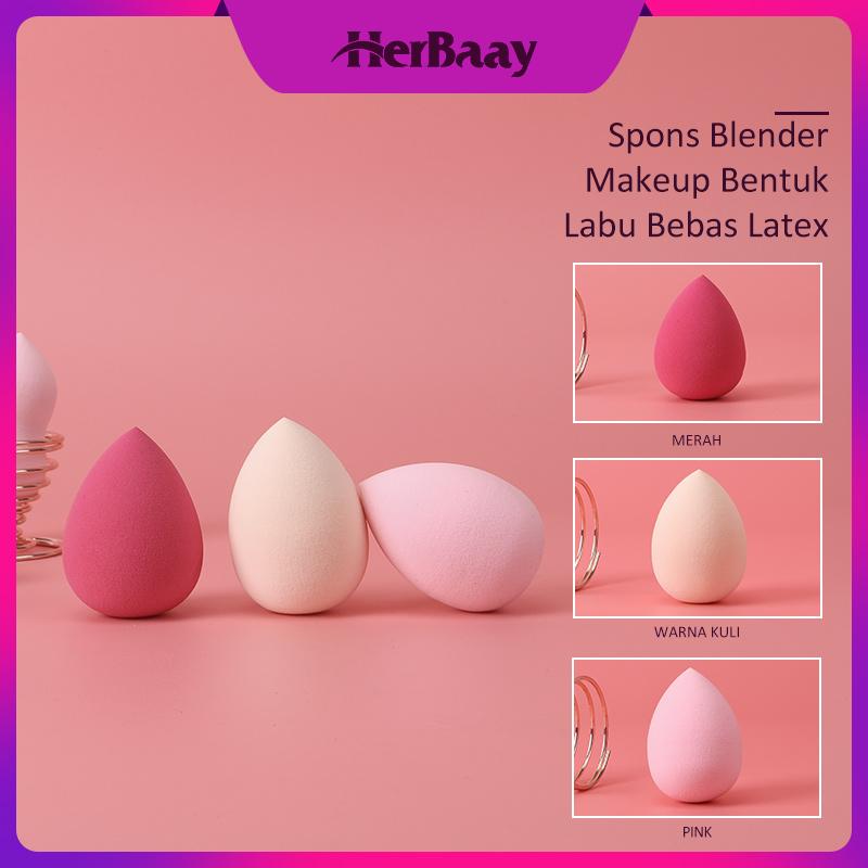 Herbaay Spons Blender Makep up Kecantikan Spons Blending Foundation - krem thumbnail