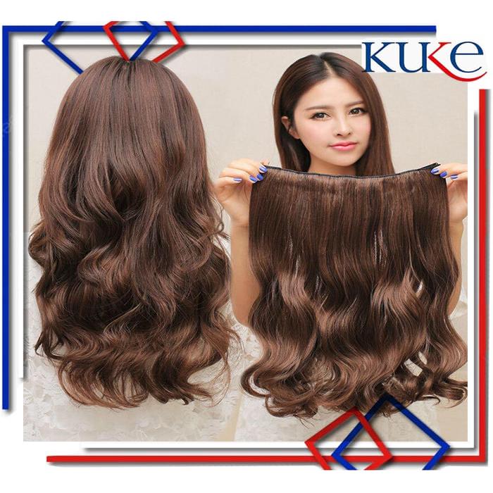 Hair Clip Big Layer Curly Hairclip Keriting KODE 8061 - Curly, Cokelat thumbnail