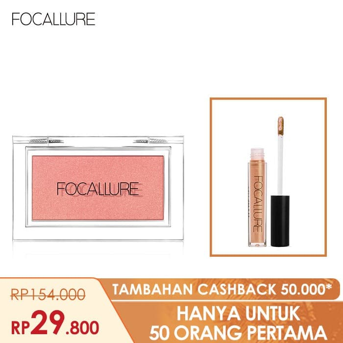 FOCALLURE Bundle Blush On dan Lipstik Glitter - Bundle 3 thumbnail