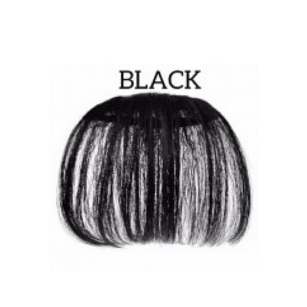 Hair Clip Korea Poni Tipis Black Hair Extension thumbnail
