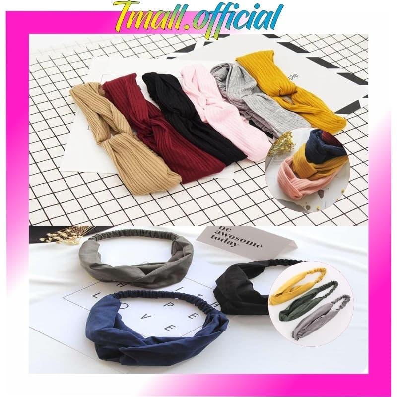 TMALL Bandana Korea Style Bando Rambut Fashion R182 - Kuning thumbnail