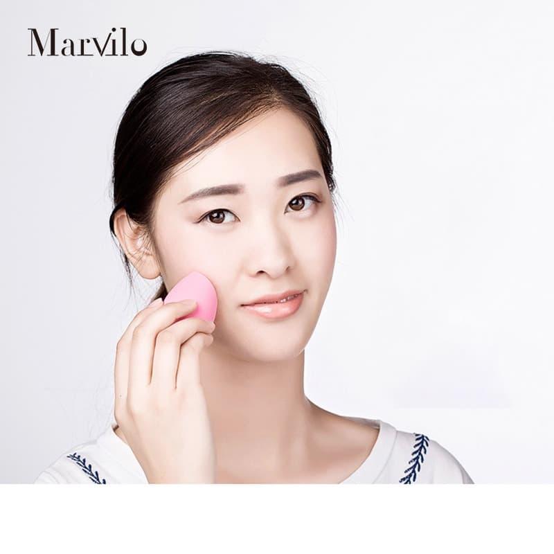 Marvilo Sponge Foundation Beauty Blender Bentuk Telur - Orange 4