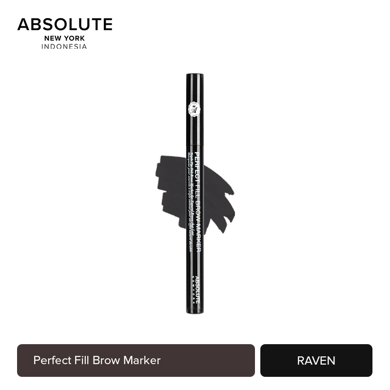 Absolute New York Perfect Fill Brow Marker 5 Shades Color AEBM - Raven thumbnail