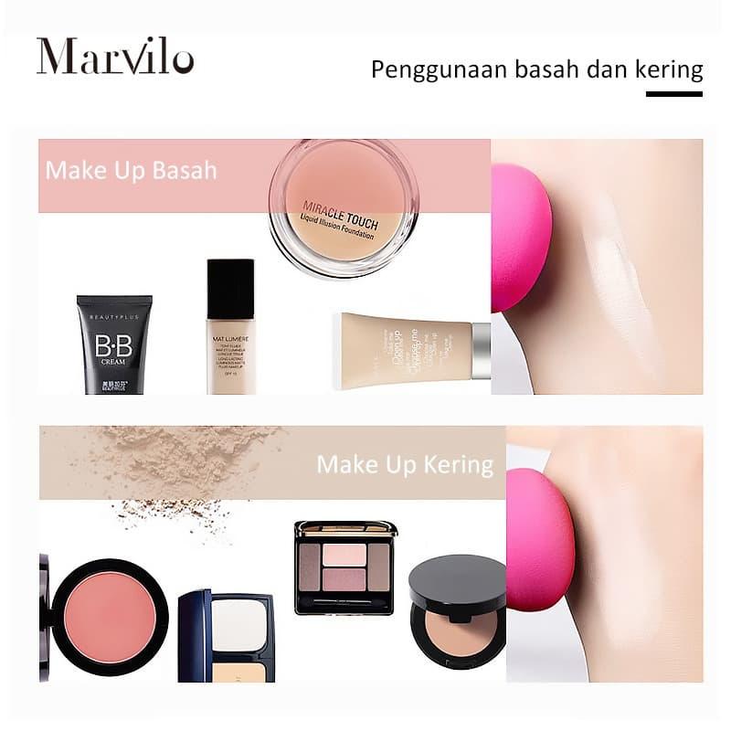 Marvilo Beauty Sponge Blender Bentuk Labu - Krem 2