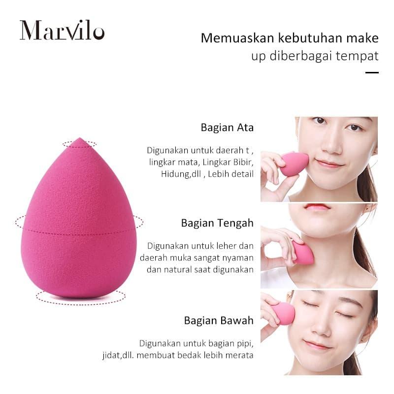 Marvilo Sponge Foundation Beauty Blender Bentuk Telur - Orange 2