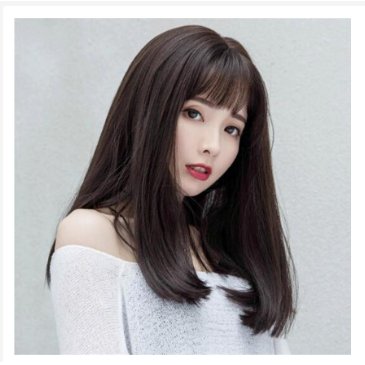 Wig Wanita Lurus Berponi - Rambut Wig Korea Berponi BS 1 thumbnail