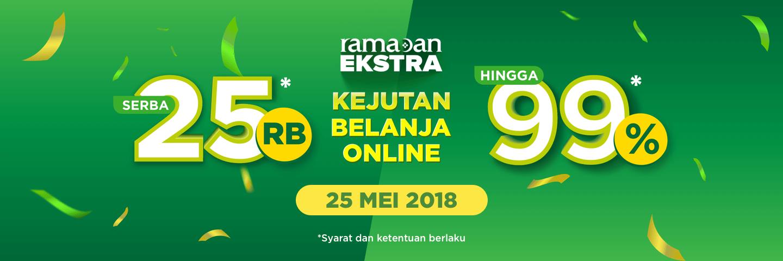 Kejutan Belanja Online Ramadan Ekstra Tokopedia 24 - 25 Mei 2018